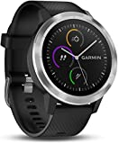 Garmin Vivoactive 3 - Smartwatch con GPS y pulso en la muñeca, Negro/Plata, M/L