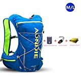Mochila AONIJIE de 10l, ligera, resistente al agua, para correr, hacer ciclismo, tipo chaleco, Blue-M/L